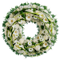 Wreath of white flowers